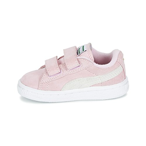 Puma Suede per bambini 2 basse Straps rosa Inf Sneakers d4xCqRdfrw