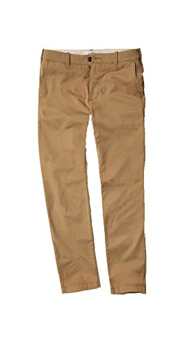 Hollister Men's Jogger & Skinny - Slim Straight Chino Pants (Khaki Skinny Chino, W32 L30) from Hollister