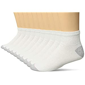 Hanes Men's 10 Pack Ultimate Ankle Socks