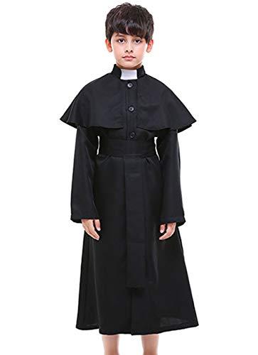 COSLAND Kids Boys' Priest Choir Minister Robe
