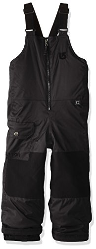 Burton Boys Minishred Maven Bib Pants, True Black, Size 5/6 by Burton