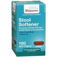 (Walgreens Stool Softener Softgels, 100 ea - 2pc )