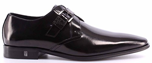 Versace Patent Leather - Versace Collection Men's Patent Leather Shoes Loafers, Black, 40 EU