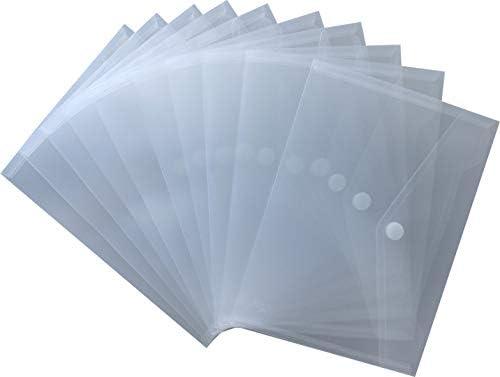 90461 - Sobre portadocumentos (cierre de velcro, A5, 10 unidades), transparente