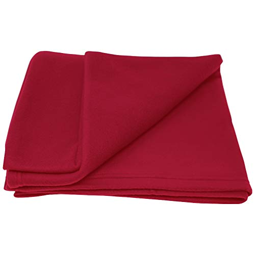Custom Text Personalized Polar Fleece Unisex Adult Blanket Handle to Carry Easily Everywhere - Red, 50