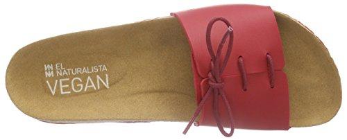El Naturalista Waraji Damen Pantoletten Rot (Red)