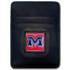 Siskiyou NCAA Ole Miss Rebels Leather Money Clip/Cardholder