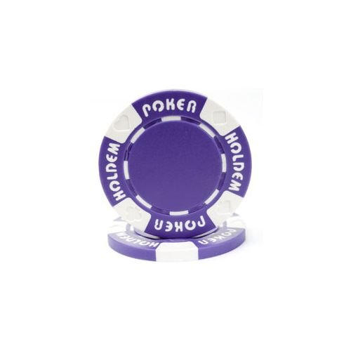 Trademark Poker Suit Holdem 50 Poker Chips, 11.5gm, Purple