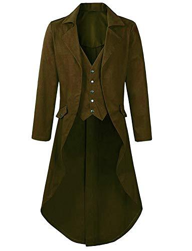 DGMJDFKDRFU Victorian Jacket for Women Plus Size Brown Party Costume Men Circus Ringmaster -