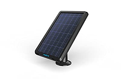 Reolink Solar Panel Power Supply for Wireless Outdoor Rechargeable Battery Powered IP Security Camera Reolink Argus 2, Waterproof, Adjustable Mount, Continuous Power Supply