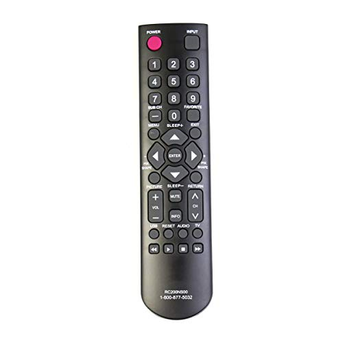 New Remote Control RC200NS00 fits for SANYO LCD-LED HDTV DP24E14M DP32D53 DP32D53M DP39D14M DP40D64 DP50E44M GXBB GXDB CS-90283U CS90283U NH315UD DP24E14M DP32D53 DP32D53 DP39D14M DP40D64 DP50E44M FVD (Sanyo Dp26640 Tv)