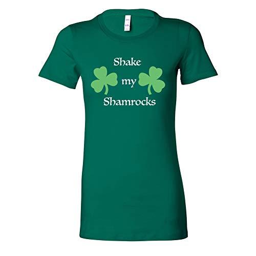 Costume Agent St Patrick's Day Irish Shake My Shamrock Juniors Green T-Shirt