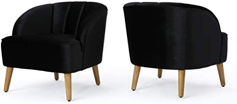 Christopher Knight Home Amaia Modern Velvet Club Chairs