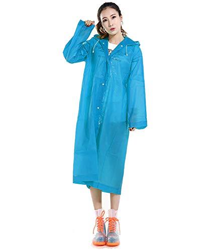 1 Grande Azul Verde Huici Eva Impermeable Adulto Para Abrigo De Talla fn0gHvw