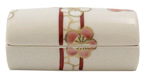 Plum Flower Kiyomizu Yaki Porcelain 3.5inch Toothpick holder by Watou.asia