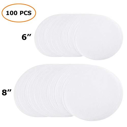 - Sopplea 100 Sheets Parchment Paper Rounds 6