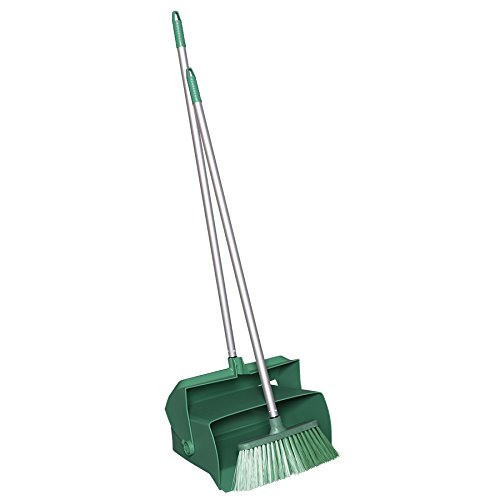 Remco 62502 Lobby Dustpan with Broom, Polypropylene/Polyester/Aluminum, 7'' X 14'' Bin, 37'' Handle, Green by Remco (Image #3)