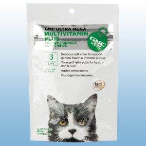 GNC Ultra Mega Multivitamin Plus Senior Soft Chews for Cats (Pack of 2), My Pet Supplies
