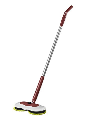 Energy-Save Floor Mop, Armati Reusable Wet Mop & Detachable Handle Cordless Electronic Household Cleaning Tool - Brown