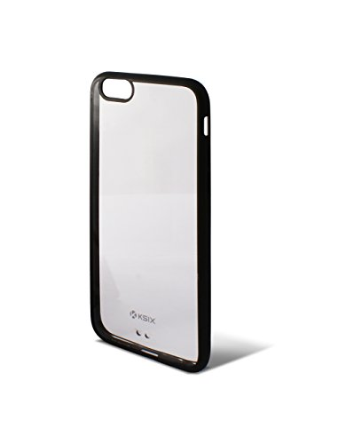 Ksix B0925CF01 Fusion Hard Cover für Apple iphone 6 11,2 cm (4,7 Zoll) transparent/schwarz
