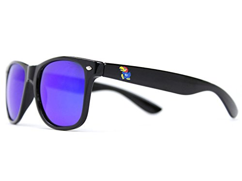 NCAA Kansas Jayhawks  Kan-5- Black Frame, Blue Lens Sunglasses, Black, One - Jayhawks Kansas Black Sunglasses
