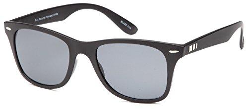 c8bd513b18 Gamma Ray Stealth Blaze Polarized UV400 Flat Black Wayfarer Square  Sunglasses in Shatterproof Nylon Frame