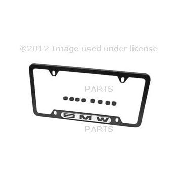 Amazon Com Bmw License Plate Frame W Bmw Logo Polished