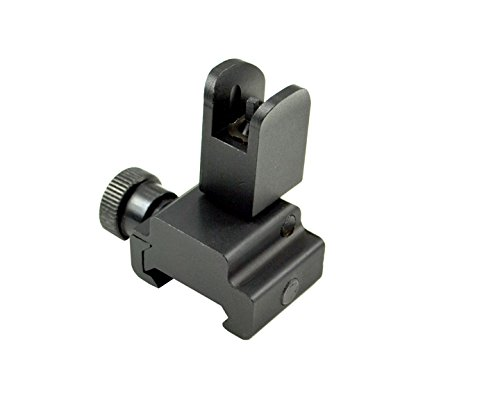 Sniper MFLFS02 Backup Front Sight Post, Flip-Up, Aluminum, Low Profile (Standard Height), Black