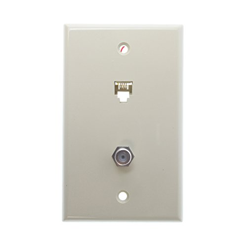 (Leviton 40959-I Standard Telephone/Video Wall plate, 6P4C X F, Screw Terminals, Ivory (Old Model))