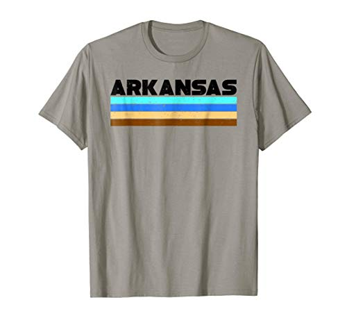 Arkansas Vintage Striped Shirt - Retro Colors