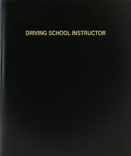 BookFactory Driving School Instructor Log Book / Journal / Logbook - 120 Page, 8.5''x11'', Black Hardbound (XLog-120-7CS-A-L-Black(Driving School Instructor Log Book)) by BookFactory