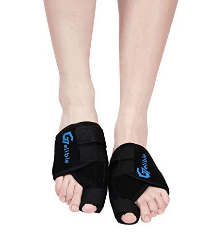 Bunion Toe Corrector,Gelible 1 Pair Toe Straightener Splints for Hallux Valgus, Overlapping Toe, Turf Toe, Bunion Pain Aid ()
