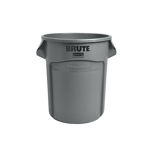 Rubbermaid Commercial Products FG262000GRAY Brute Container with Venting Channels, 20 gal, Gray