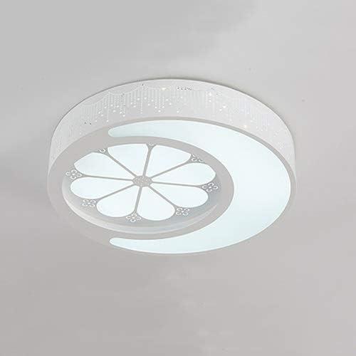 Aiqiyi Ménage Plafonnier Chaud LED Plafonnier Lampe De Chambre Creative Lampe Moderne Minimaliste Plafond Rond Atmosphère Personnalité Chambre Lampe Étude Lampe White Light