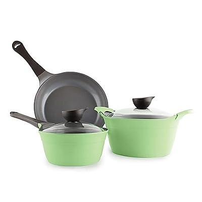 Neoflam Eela Nonstick Ceramic 5-Piece Cookware Set in Apple Green