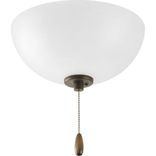 Casual Bowl Pendants Lighting (Progress Lighting P2650-20 Three-Light Bowl Fan Kit)