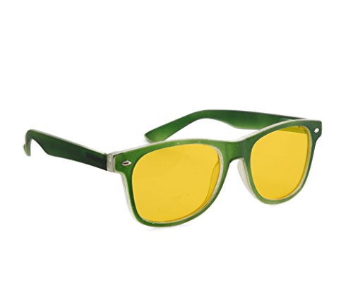 lentilles de unisexe uV400 Night nuit femmes protection soleil lunettes 4sold jaune écaille Correction Rubi driving füllend marron lunettes soleil de hommes entièrement Green IHIqzw