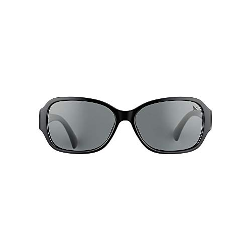 Eddie Bauer Womens Layna Polarized Sunglasses, Black Regular ()