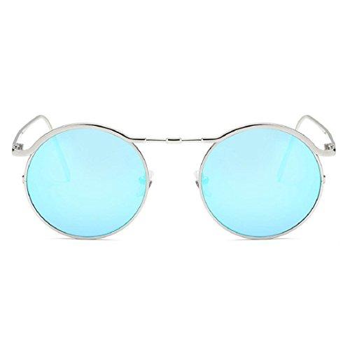 soleil Culater® Cadre Mode E Lunettes Lunettes UV Femmes de Acétate Unisexe Ronds Lunettes rRYPEwqr