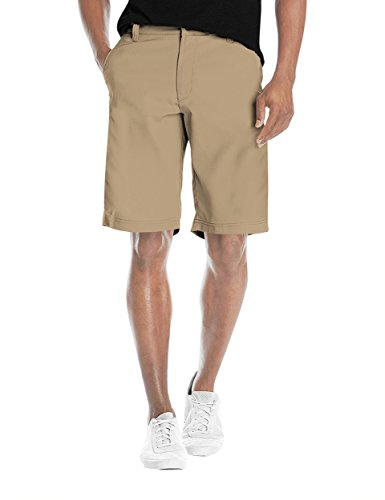 (Agile Mens Super Comfy Flex Waist Cargo Shorts ASH45182 British KH)