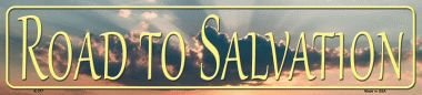 Rancho Denaro K-377 Road To Salvation Novelty Metal Mini Street Sign ()
