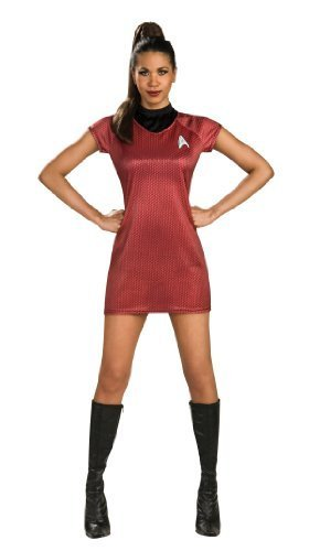 Rubie's Costume Star Trek Into Darkness Uhura Dress, Red, (Star Trek Red Dress)