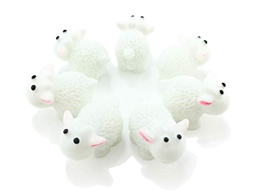 (HoneyToys Miniature Garden Herd of Sheeps, White)