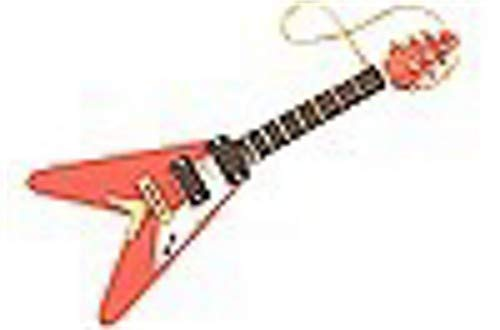 Aim Music V Shaped Electric Guitar Ornament - Red ()