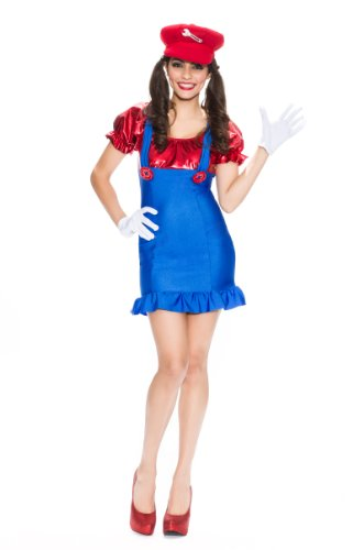 Handy Woman Costume (Delicious Handy Mandy Costume, Multi, X-Small)