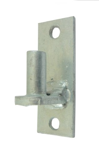 Wall Mount Flat Back Chain Link Fence Gate Hinge - 5/8 Hinge Pin 1 Pack