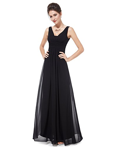 Ever Pretty Double V-Neck Elegant Ruched Waist Ladies Long Evening Dress 08110