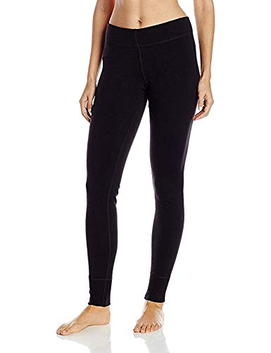 (Woolx Womens Nora Heavyweight Merino Wool Base Layer Leggings, Black, Large)
