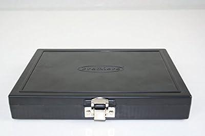 100pc Microscope Slide Storage Box, Black