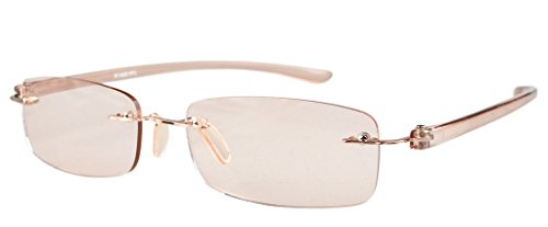 Eyekepper UV Protection,Anti Glare/Blue Rays,Scratch Resistant Lens Rimless Computer Readers Reading Glasses +1.25